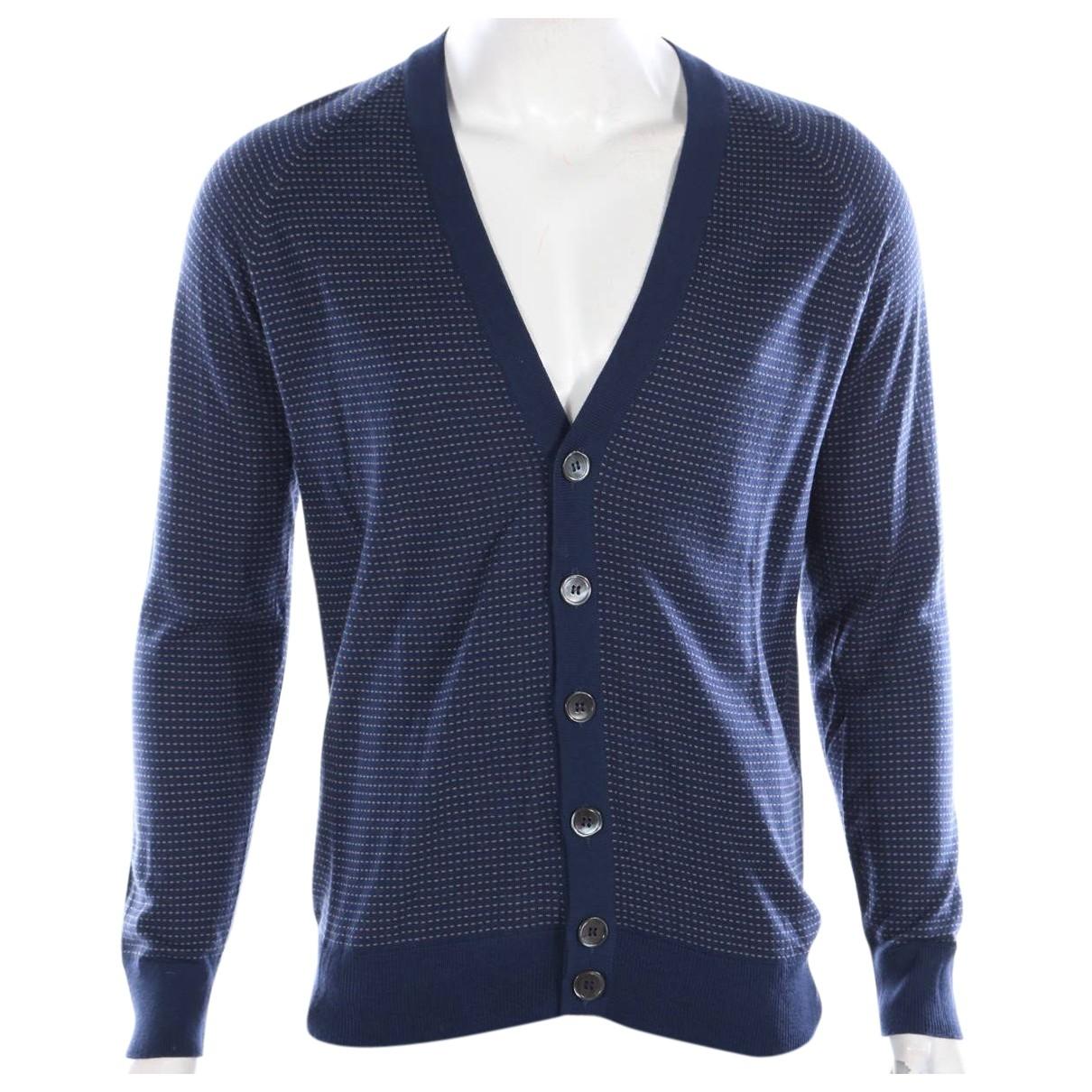 Non Signe / Unsigned \N Pullover.Westen.Sweatshirts  in  Marine Wolle