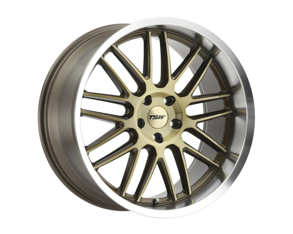 TSW Avalon Wheel 19x10 5x114.30 25mm Bronze w/Brushed Bronze Face & Machined Lip