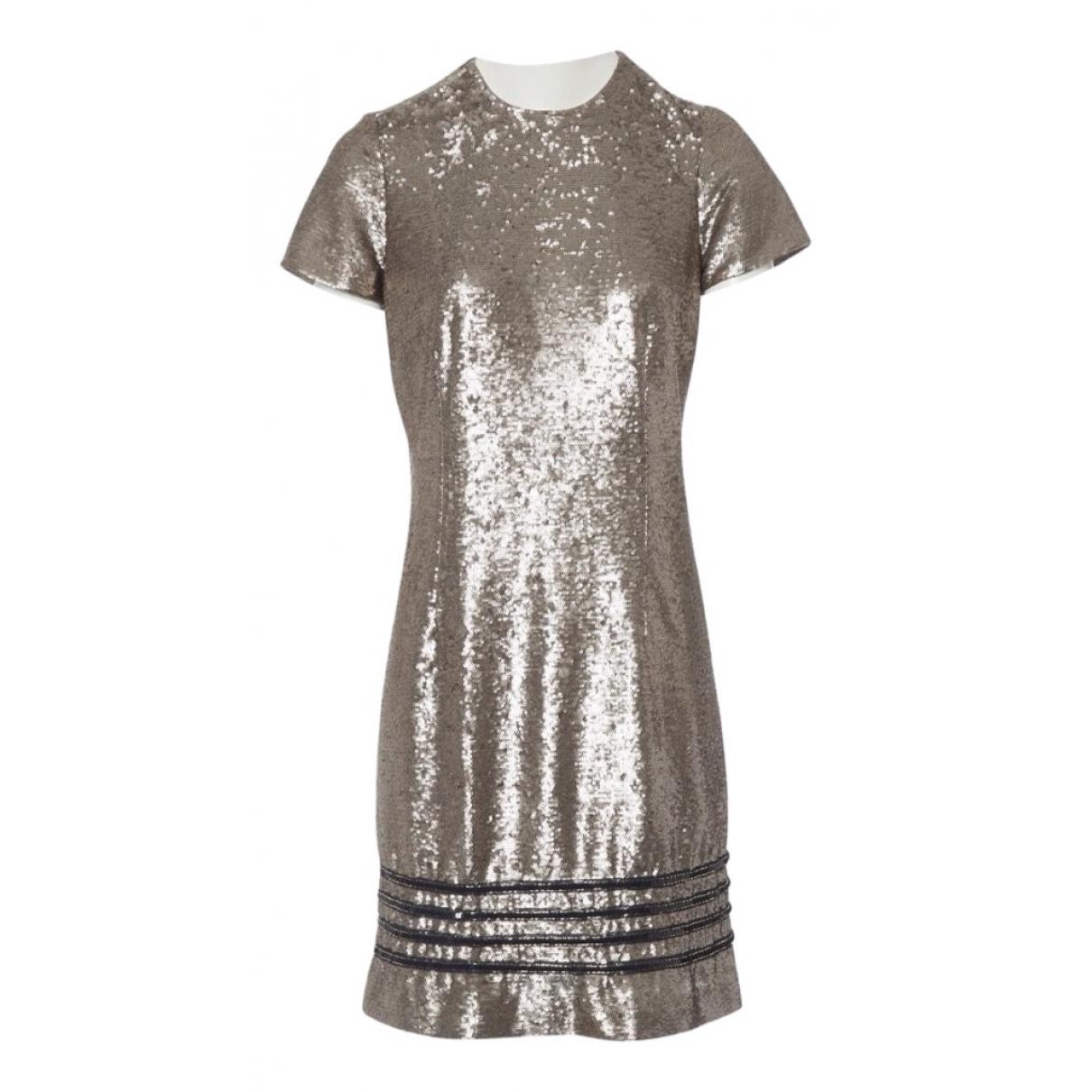 Gigi Hadid X Tommy Hilfiger \N Gold Glitter dress for Women 36 FR