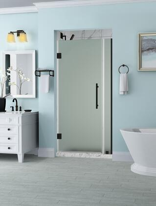 SDR965F-ORB-3832-10 Belmore 37.25 To 38.25 X 72 Frameless Hinged Shower Door With Frosted Glass In Oil Rubbed