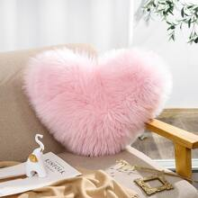 Heart Shaped Plush Cushion Cover Without Filler