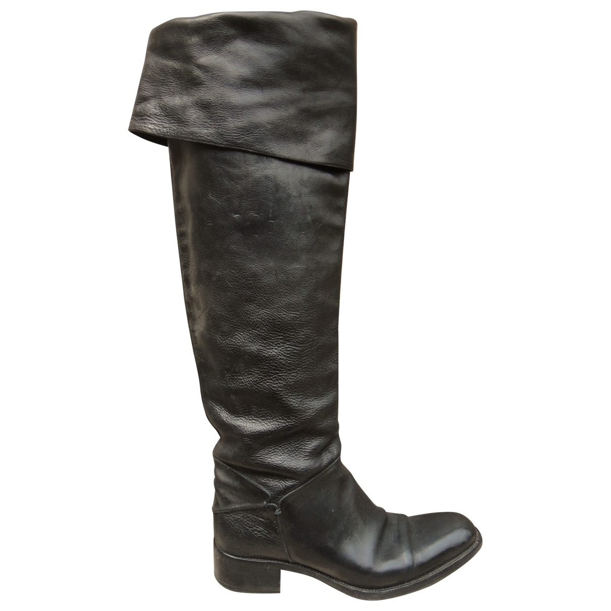 Sartore \N Black Leather Boots for Women 38 IT