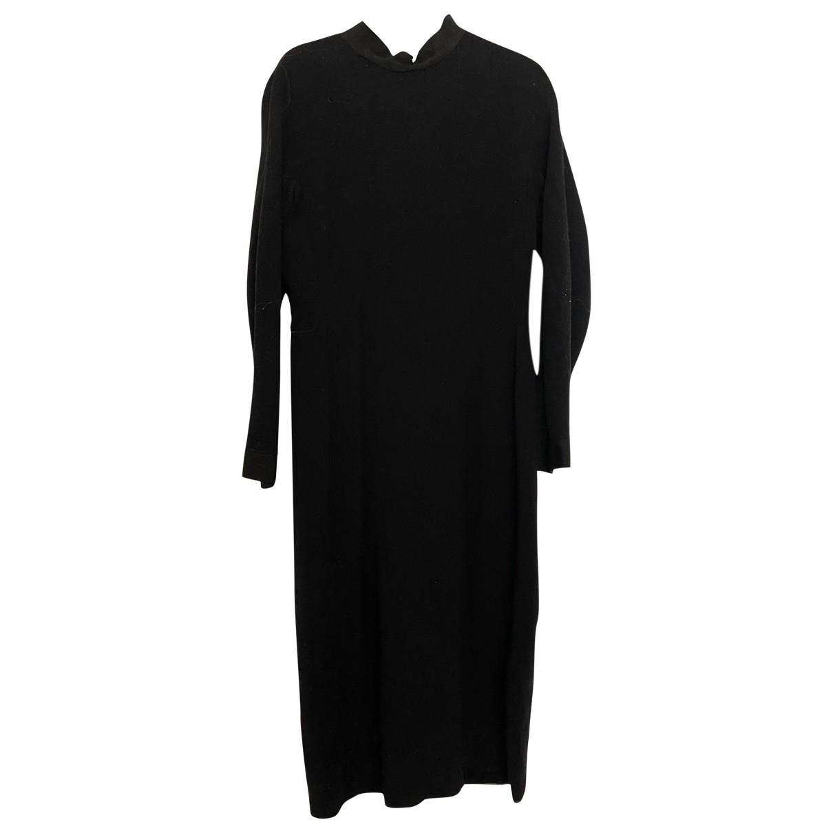 Lanvin \N Kleid in  Schwarz Wolle