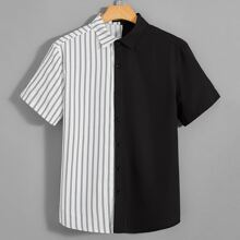 Shirt mit Knopfen vorn und Streifen