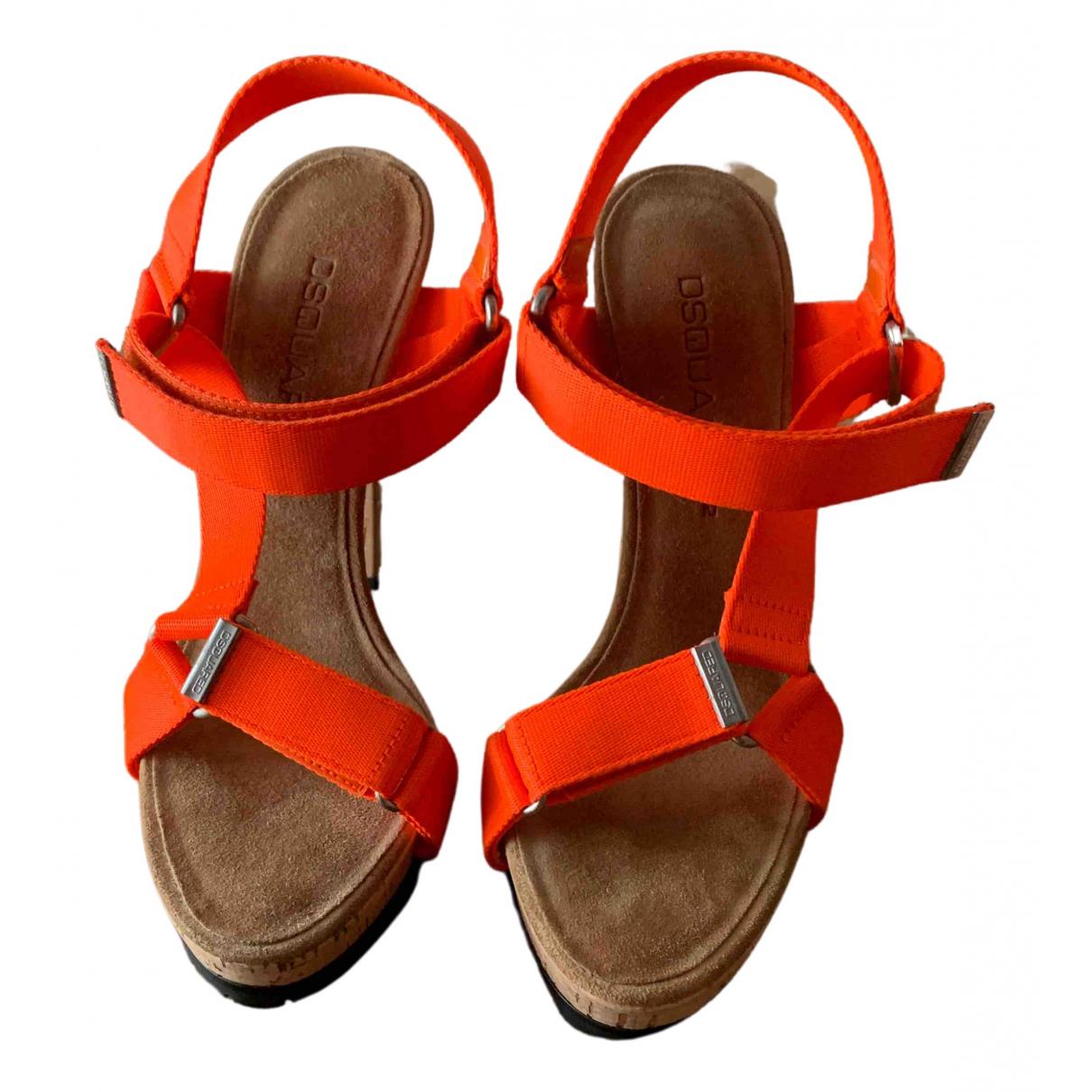 Dsquared2 \N Sandalen in  Orange Leinen