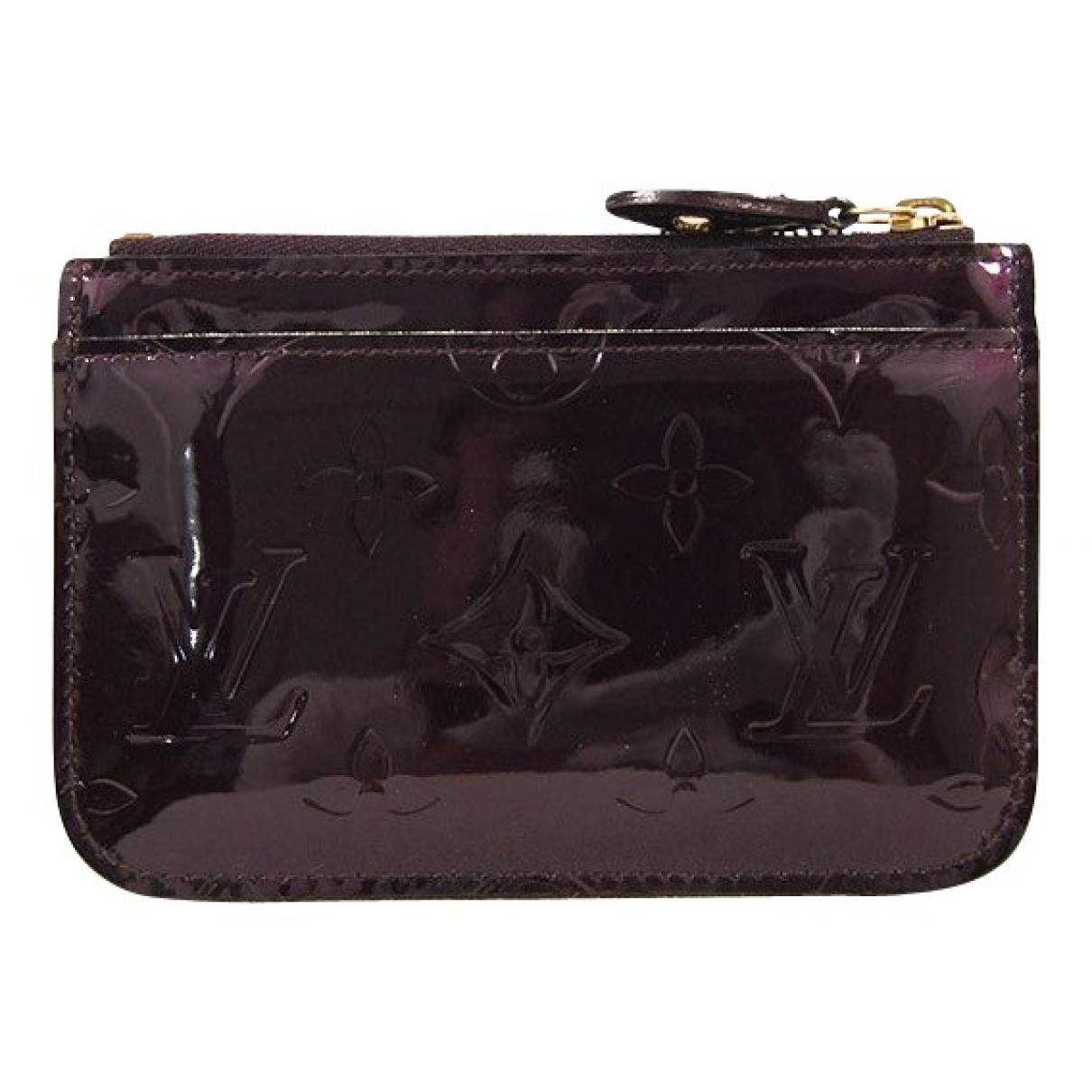 Louis Vuitton - Petite maroquinerie   pour femme en cuir verni - bordeaux