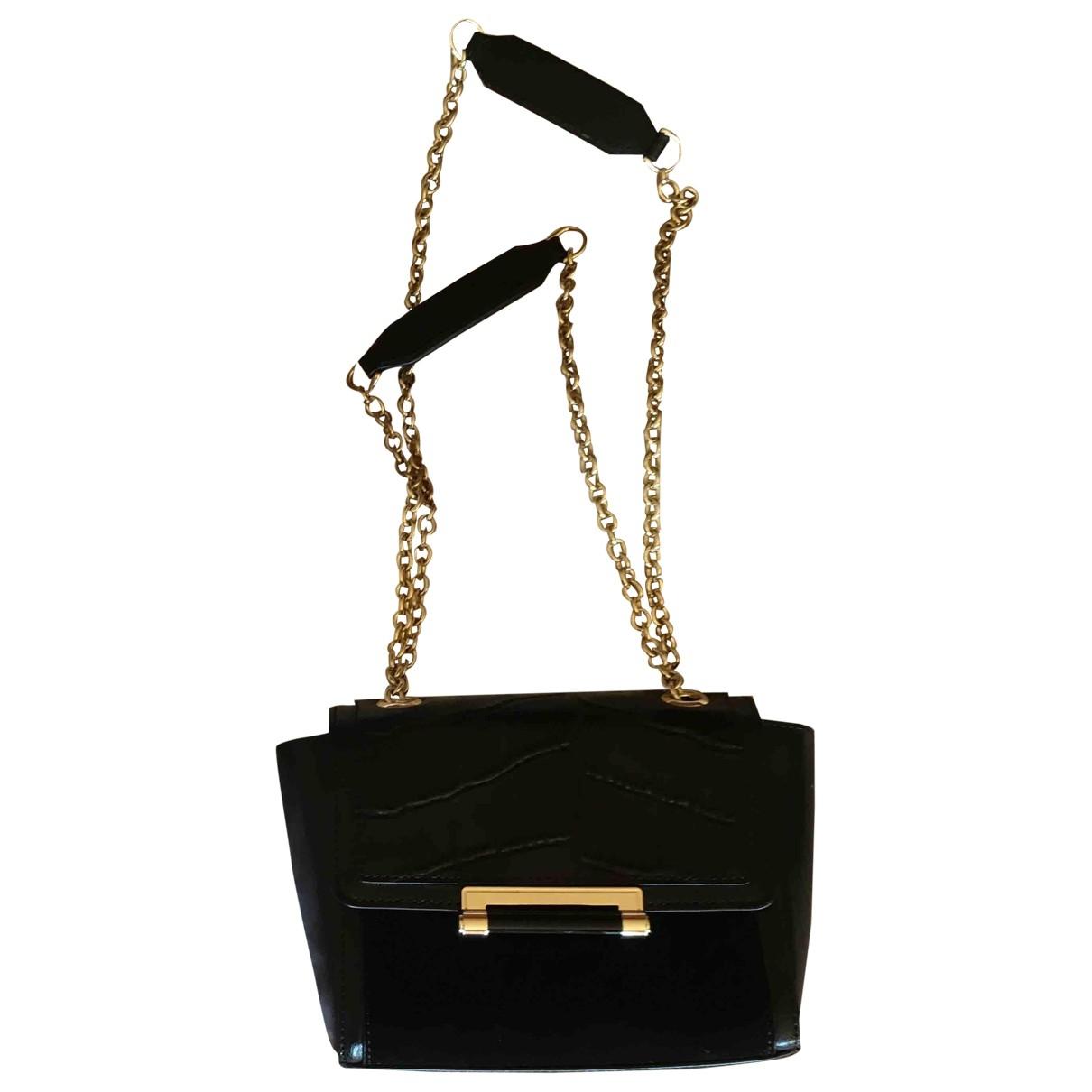 Diane Von Furstenberg \N Handtasche in  Schwarz Leder