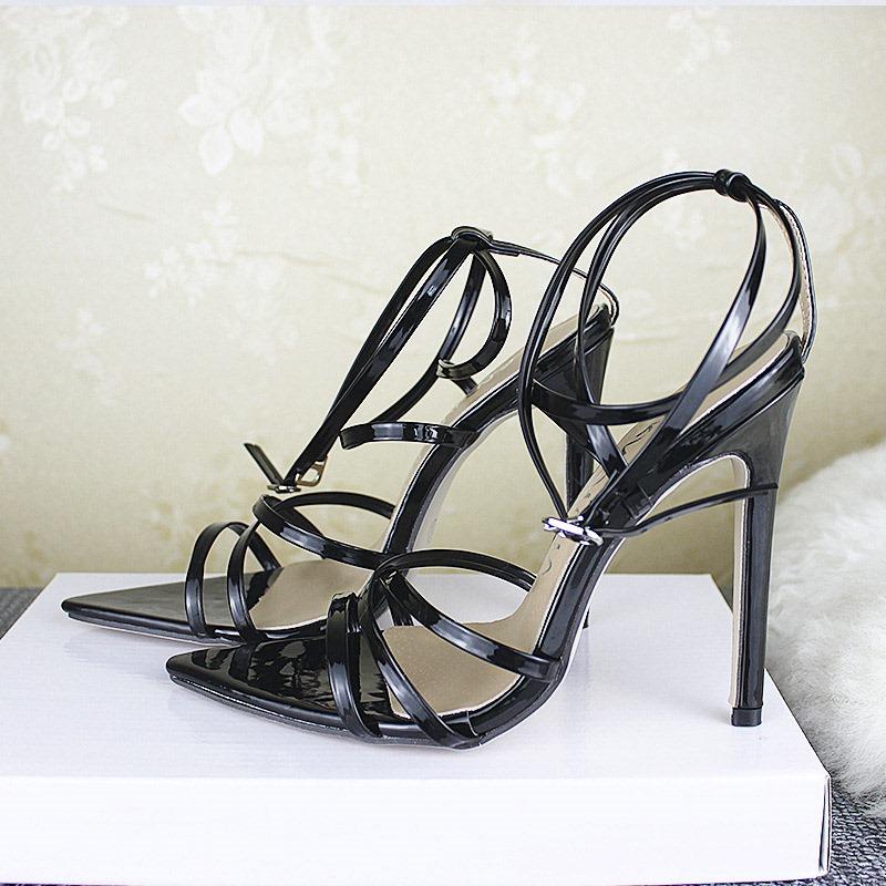 Ericdress Strappy Stiletto Heel Buckle Women's Sandals