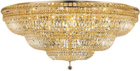 V2528F48G/SS 2528 Tranquil Collection Flush Mount D:48In H:21In Lt:33 Gold Finish (Swarovski   Elements