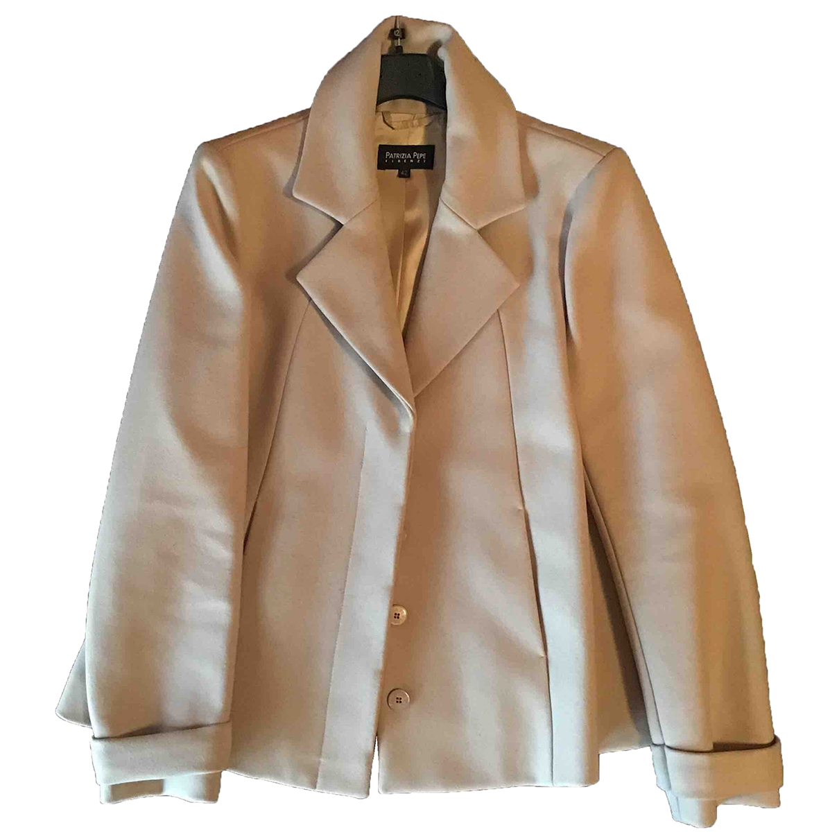 Patrizia Pepe \N Beige Wool jacket for Women 42 IT