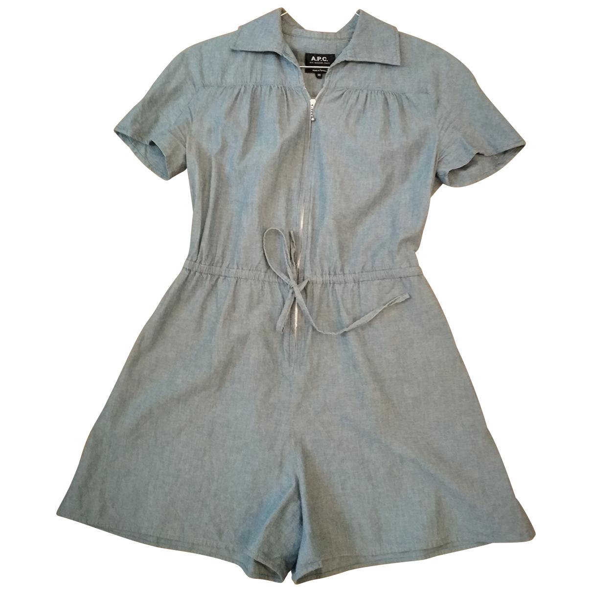 Apc - Combinaison   pour femme en coton - bleu