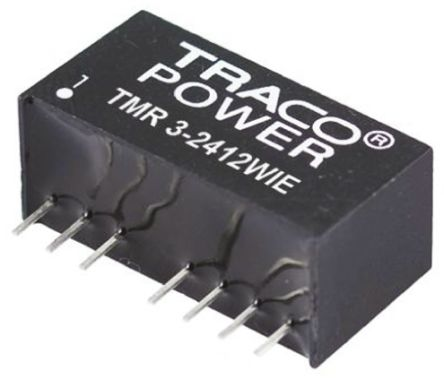 TRACOPOWER TMR 3HI 3W Isolated DC-DC Converter Through Hole, Voltage in 18 → 36 V dc, Voltage out ±12V dc