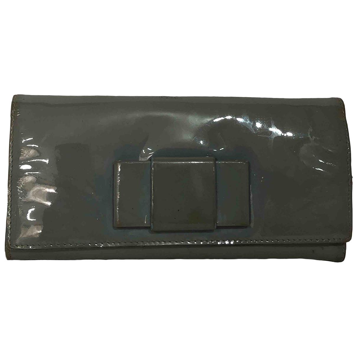 Miu Miu - Portefeuille   pour femme en cuir - gris