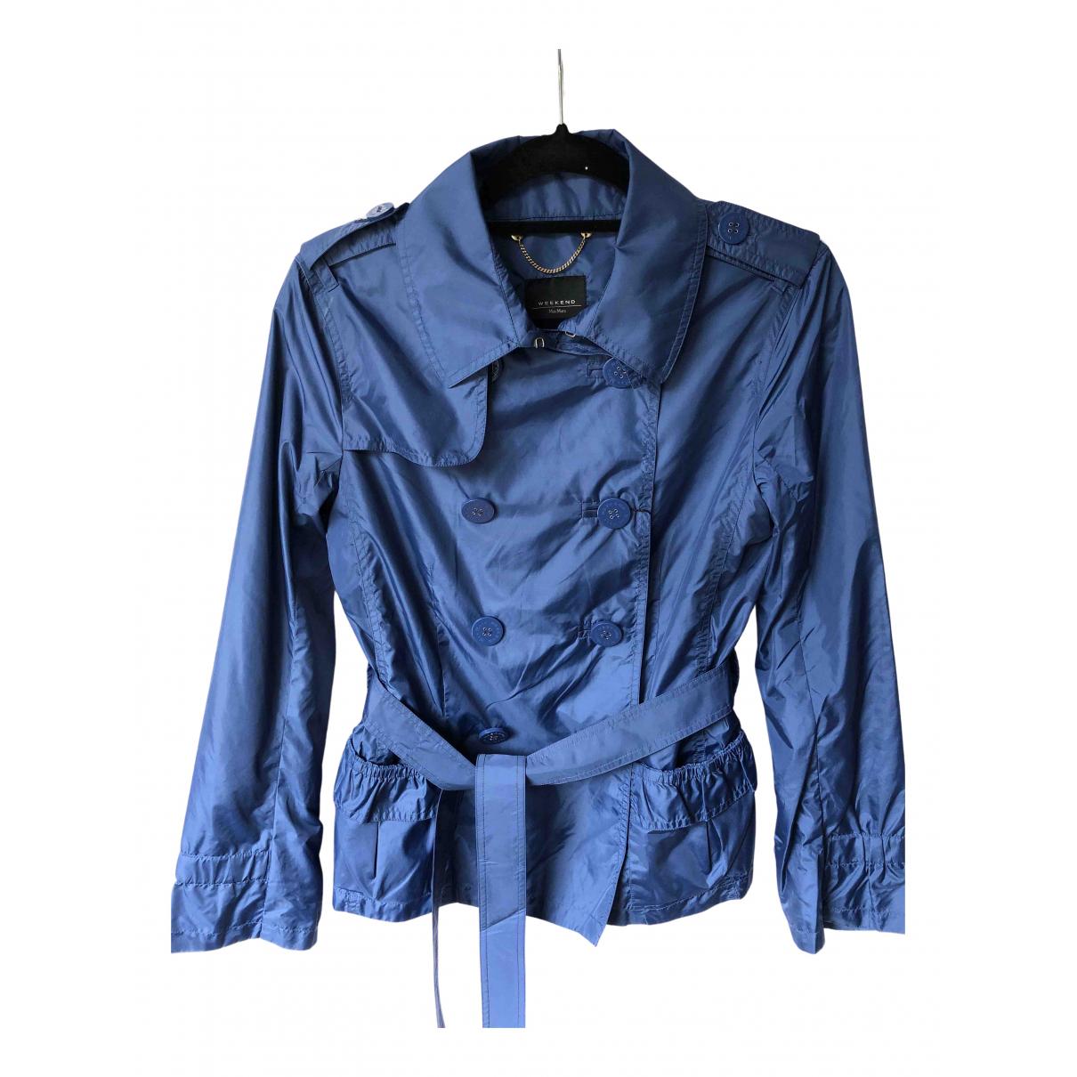 Max Mara Weekend \N Jacke in  Blau Polyester