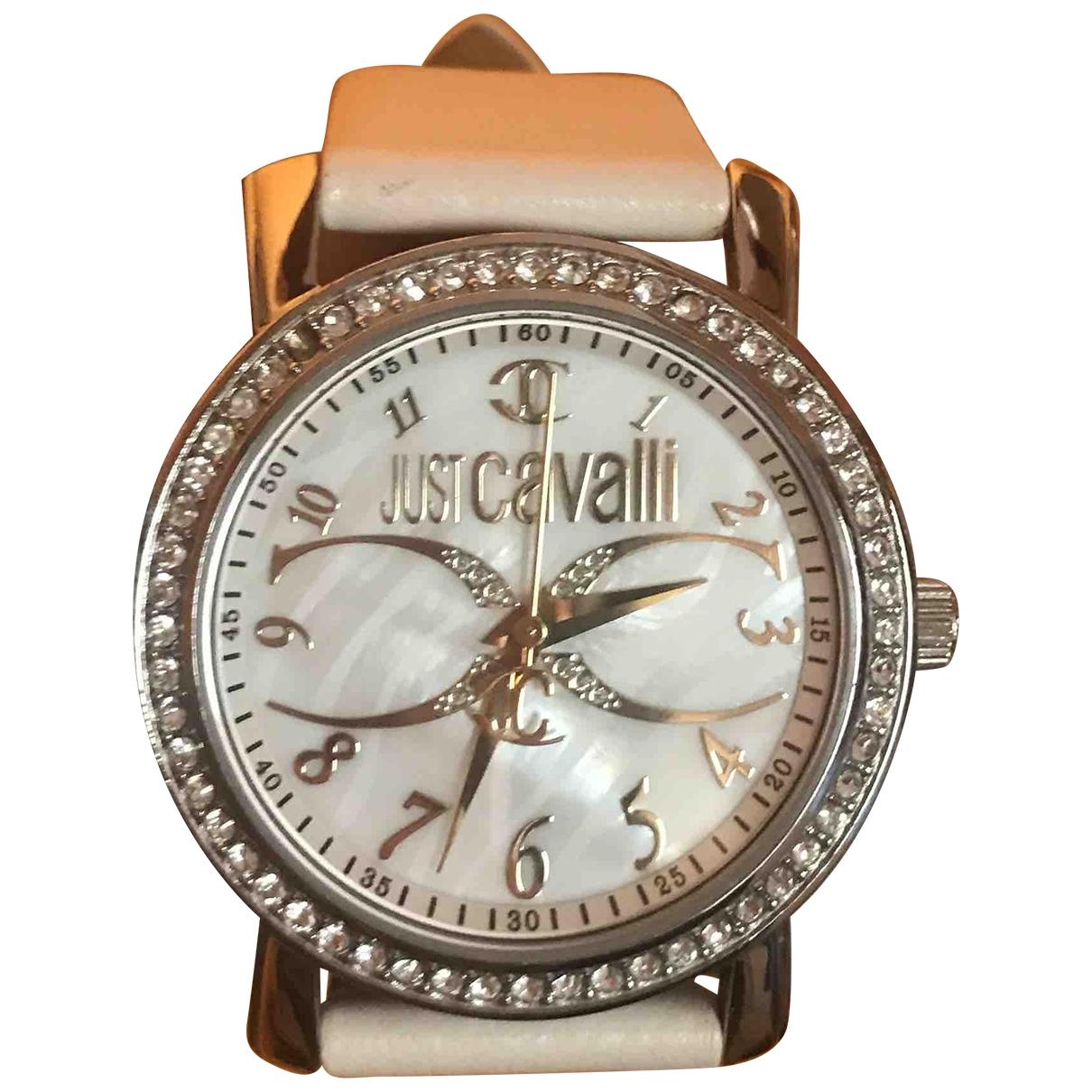 Just Cavalli - Montre   pour femme en acier - blanc