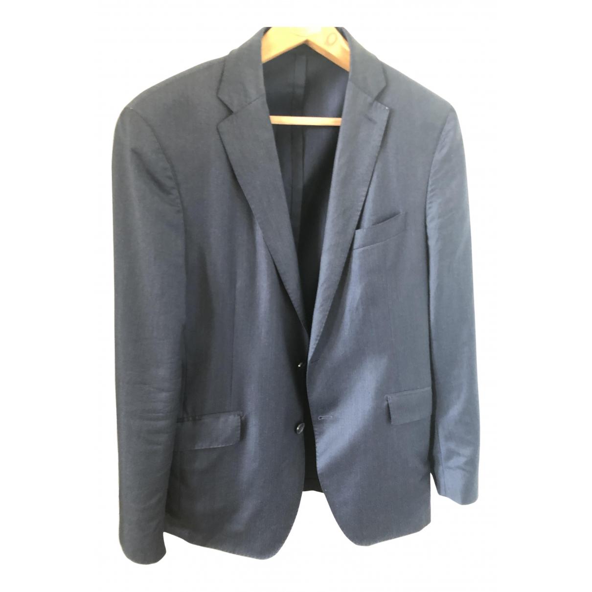 Hackett London - Vestes.Blousons   pour homme en laine - bleu