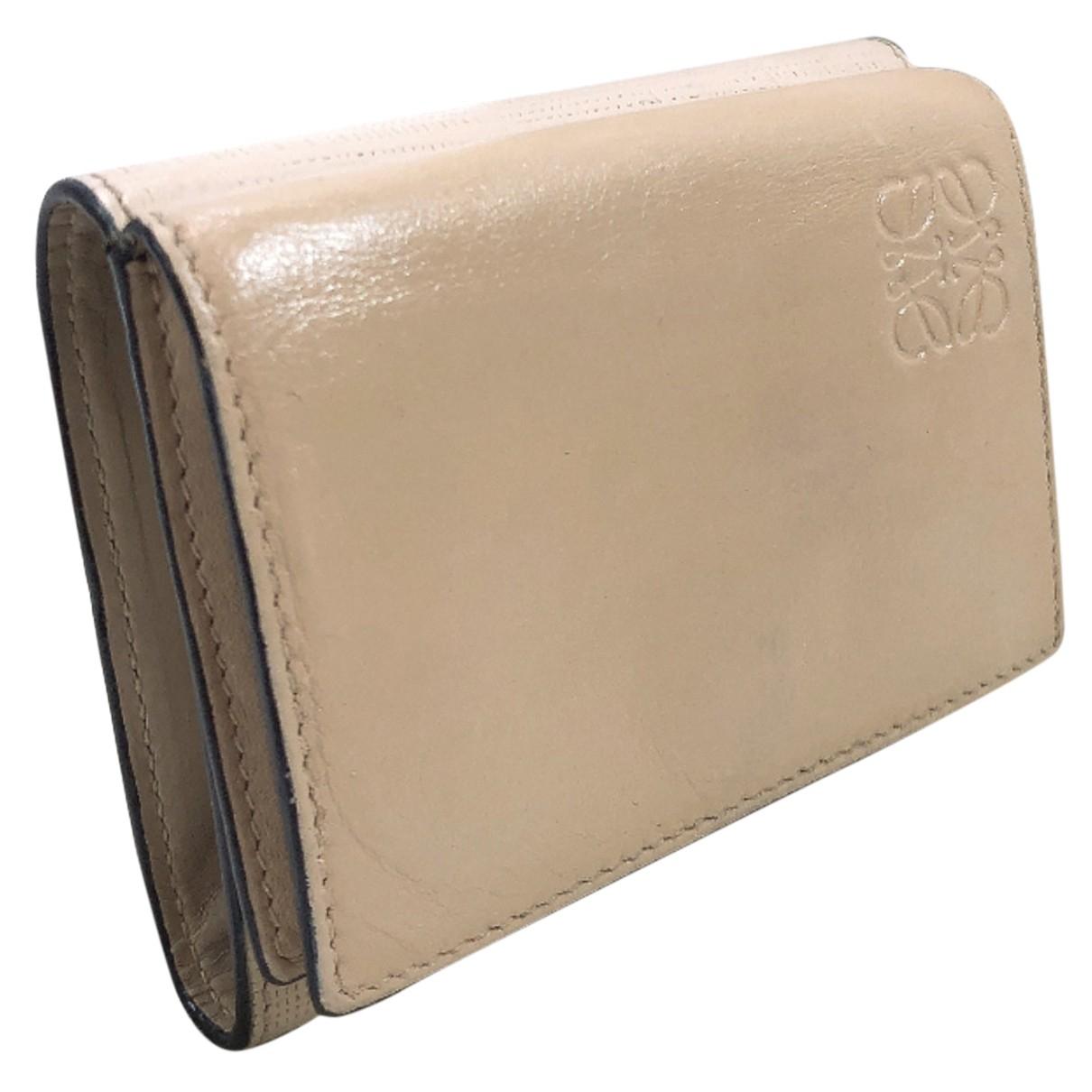 Loewe - Portefeuille   pour femme en cuir - beige