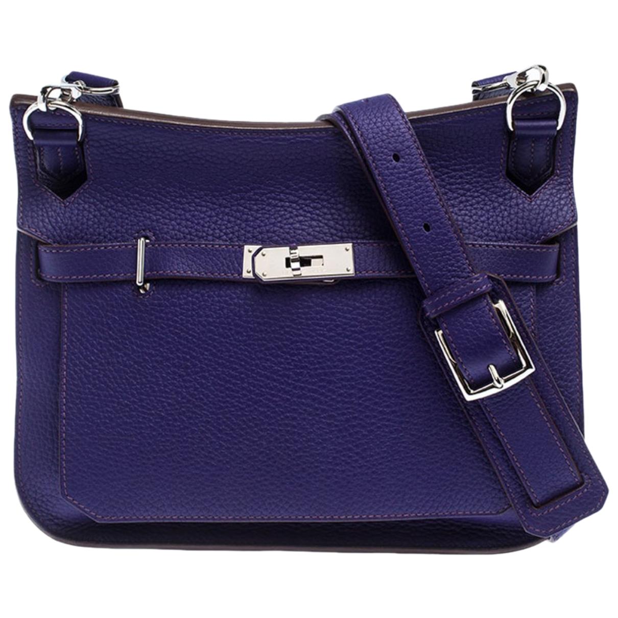Hermes - Sac a main Jypsiere pour femme en cuir - violet