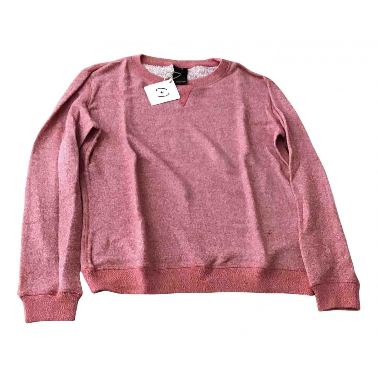 Non Signe / Unsigned \N Pullover.Westen.Sweatshirts  in  Rot Baumwolle
