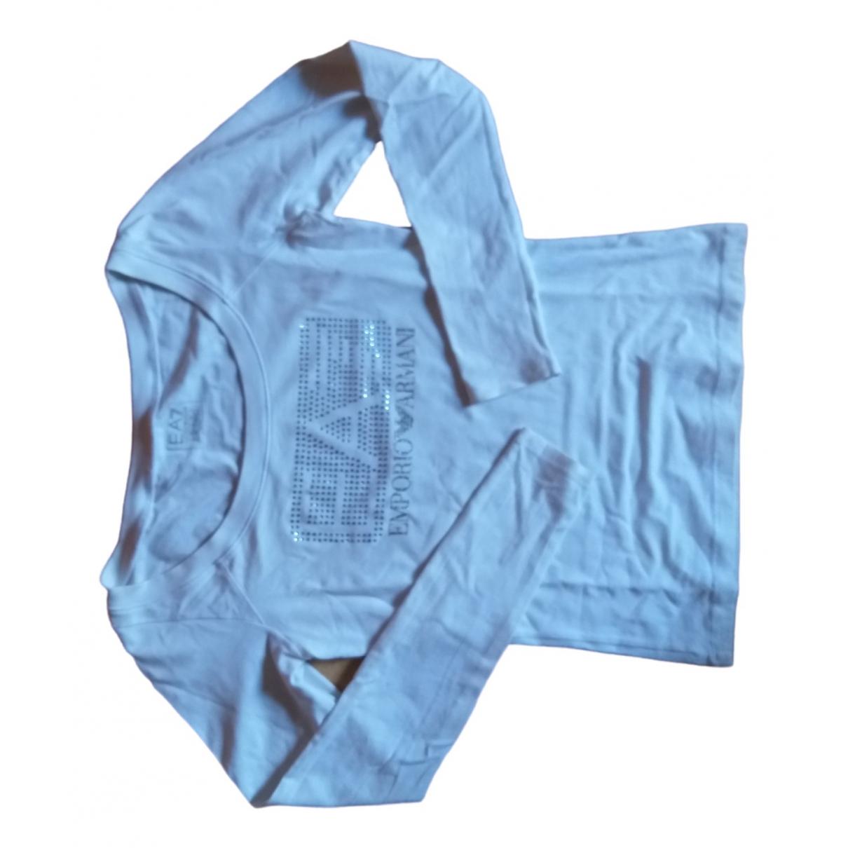 Emporio Armani - Top   pour femme en coton - blanc