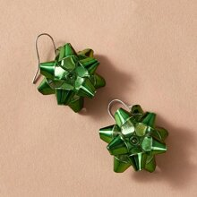 Christmas Flower Drop Earrings