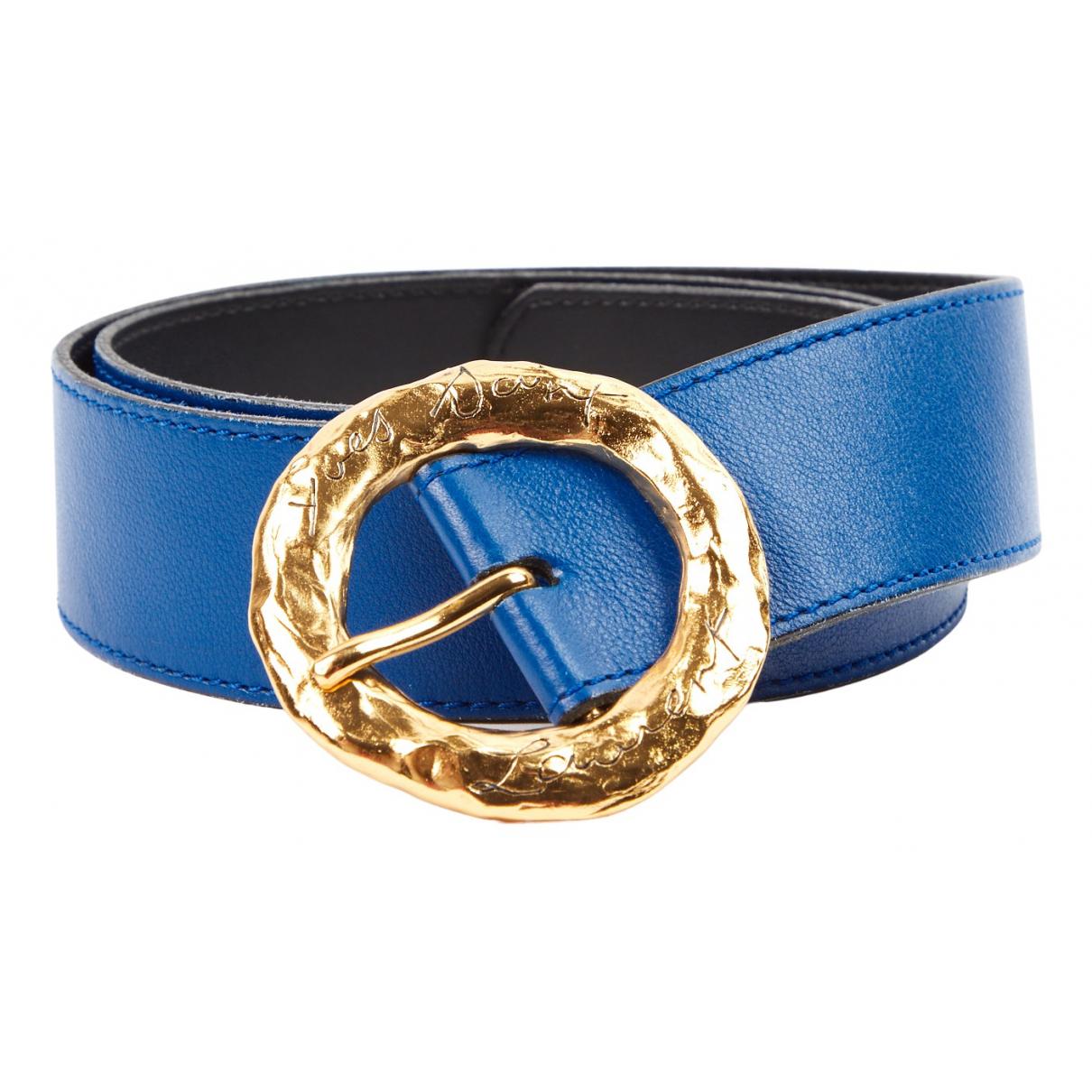 Yves Saint Laurent \N Guertel in  Blau Leder