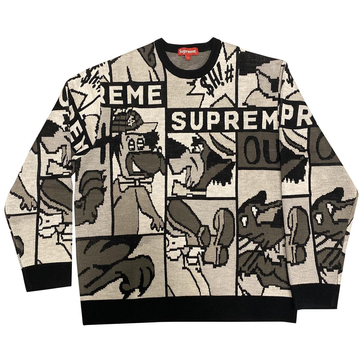Supreme \N Pullover.Westen.Sweatshirts  in  Schwarz Polyester
