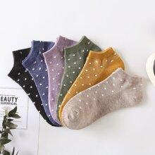 6 Paare Sockchen mit Punkten Muster