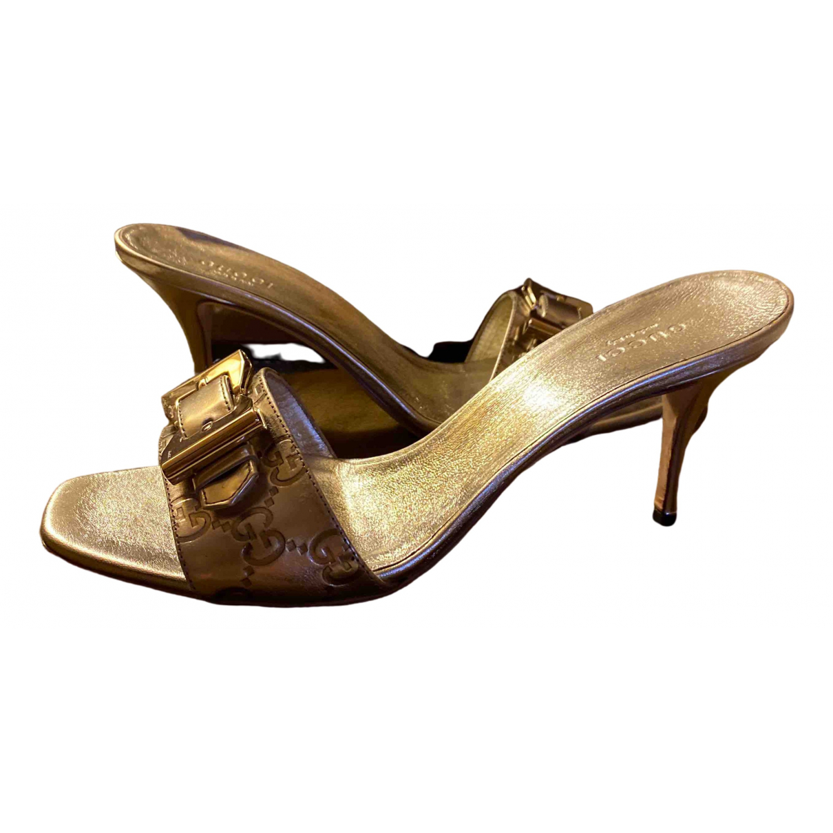 Gucci \N Gold Leather Sandals for Women 39.5 IT