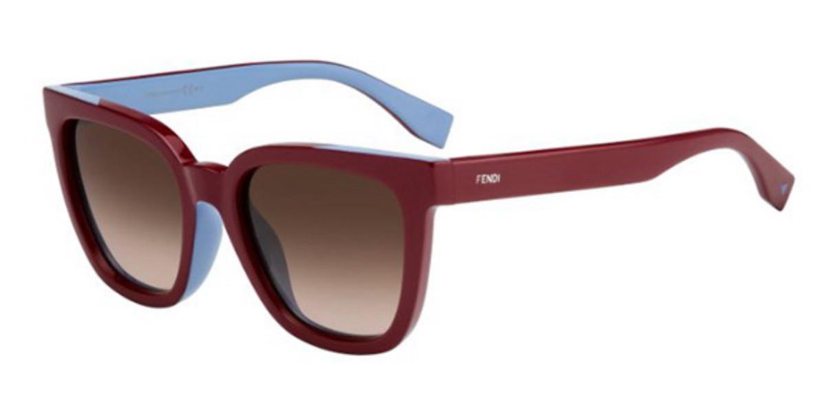 Fendi FF 0121/F/S COLOR FLASH Asian Fit MFU/K8 Women's Sunglasses Blue Size 53