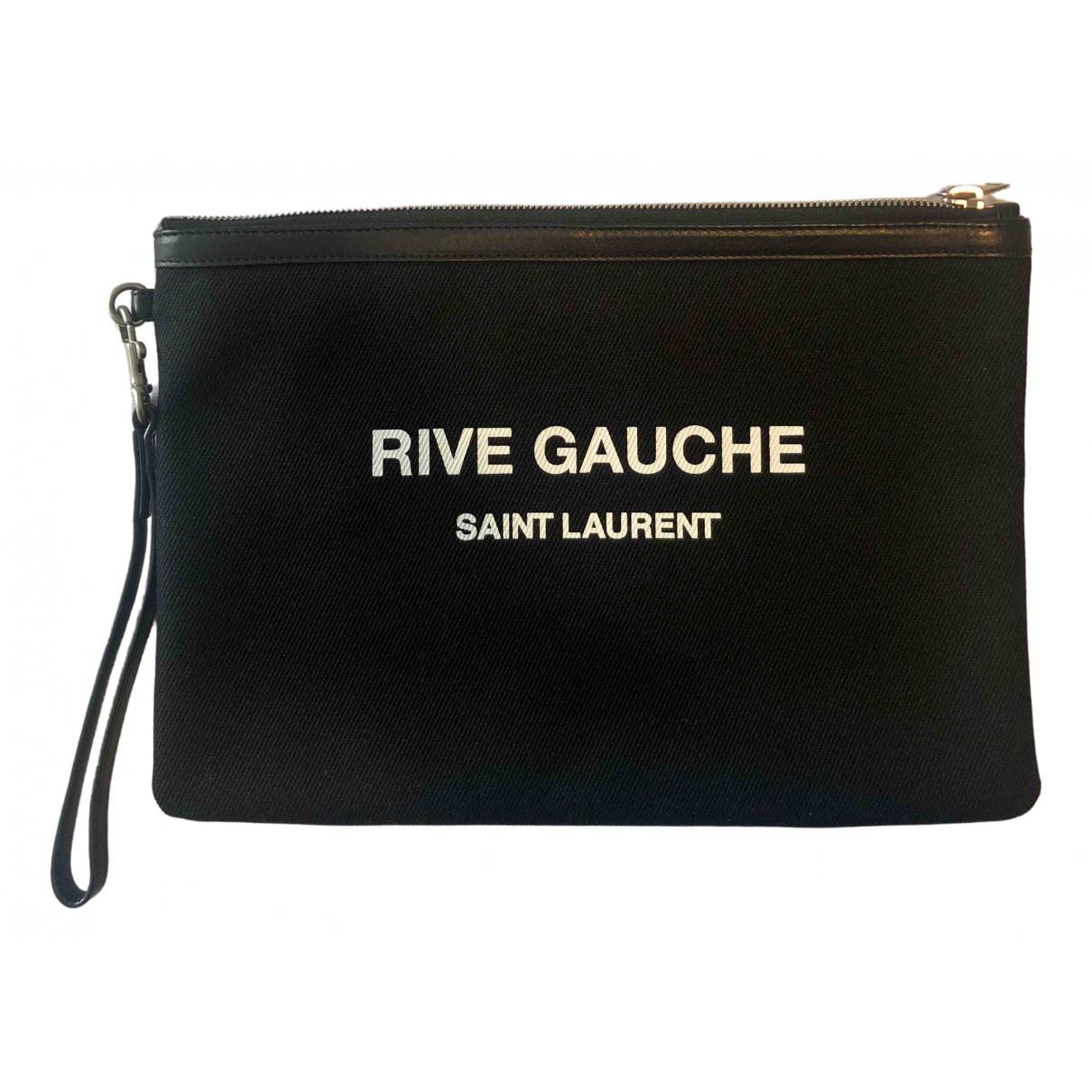 Saint Laurent Cabas Rive Gauche Black Cloth Clutch bag for Women \N