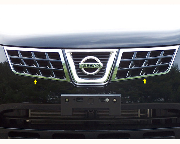 Quality Automotive Accessories Stainless Steel Grille Front Accent Trim Nissan Rogue 2010