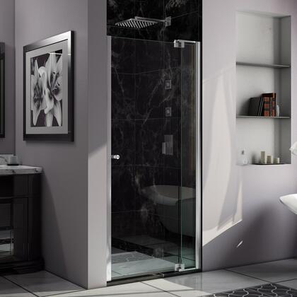 SHDR-4239728-01 Allure 39-40 In. W X 73 In. H Frameless Pivot Shower Door In