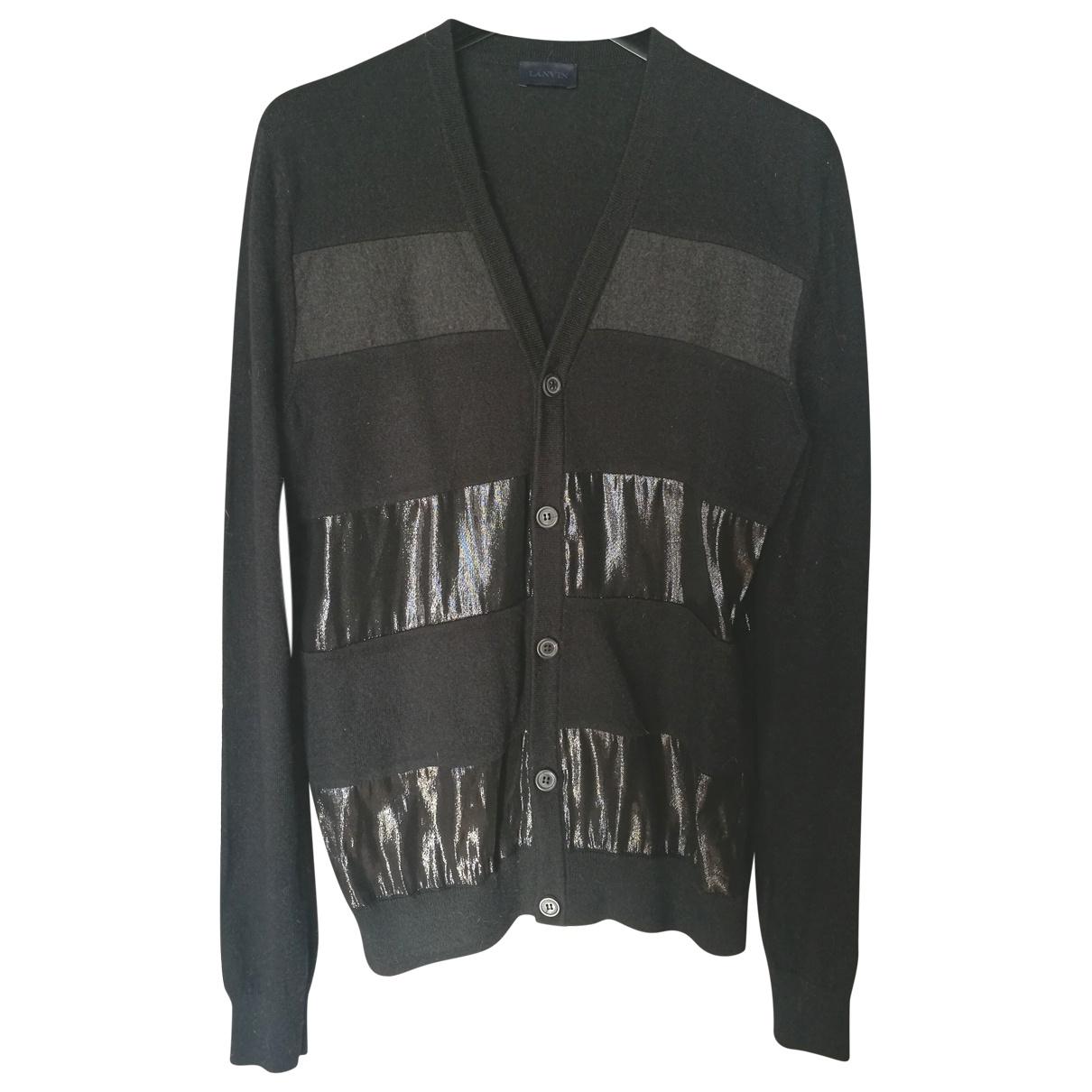Lanvin \N Pullover.Westen.Sweatshirts  in  Schwarz Wolle