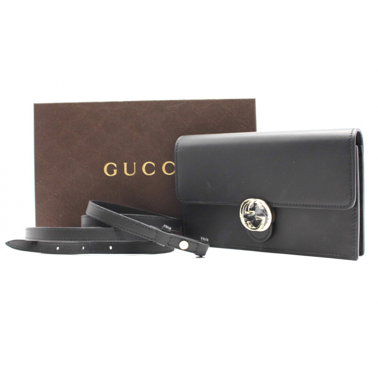 Gucci \N Clutch in  Schwarz Leder
