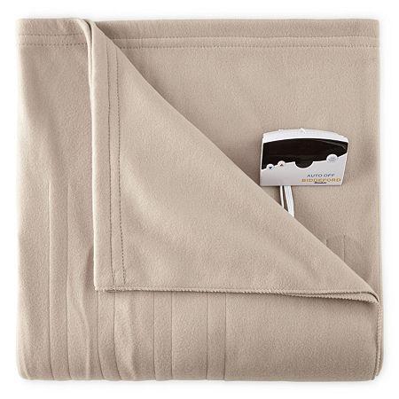 Biddeford Comfort Knit Heated Blanket, One Size , Brown
