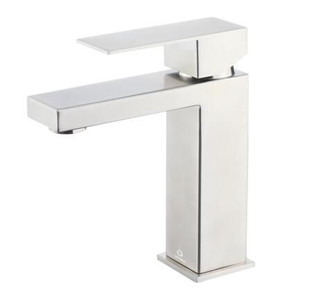 LFS1012SN Monte Stainless Steel Single Hole Bathroom Faucet  in Satin