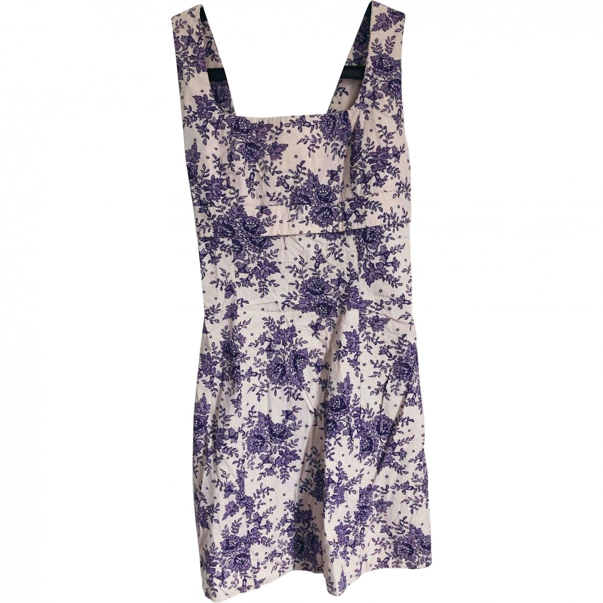 Tara Jarmon \N Purple Cotton dress for Women 40 FR