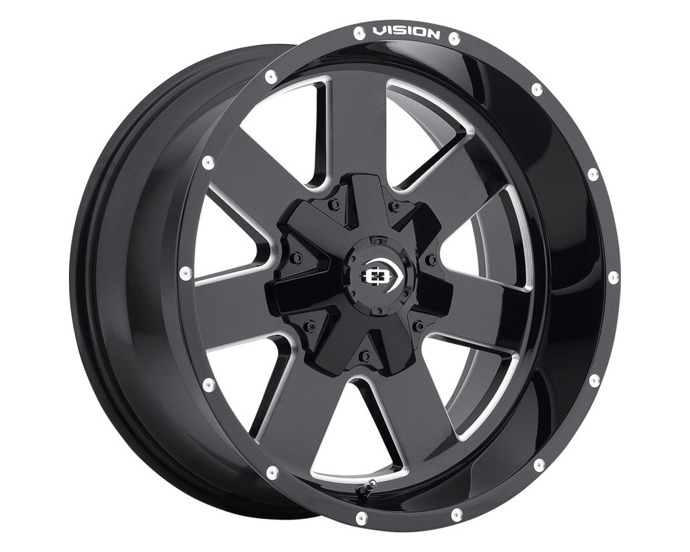 Vision Arc Gloss Black Milled Spokes Wheel 18x9 8x165.1 12