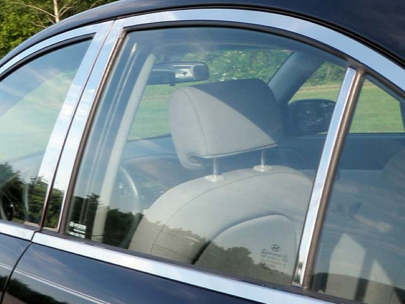 Quality Automotive Accessories 6 Piece Stainless Pillar Post Trim Hyundai Accent  06-11