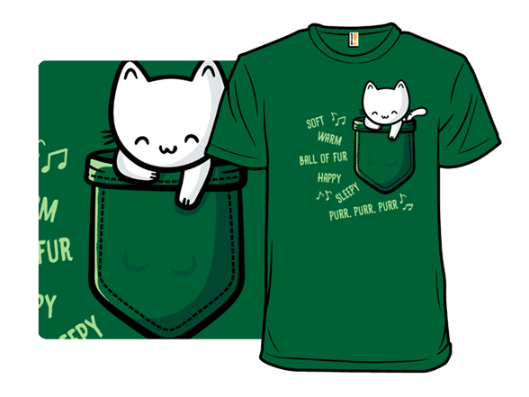 Soft Pocket Kitty T Shirt