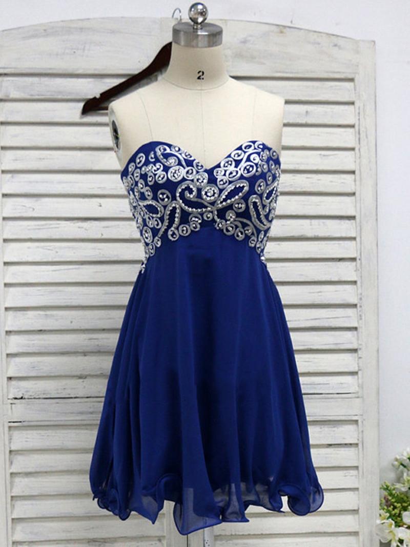 Ericdress Sweetheart Beaded Embroidery Homecoming Dress