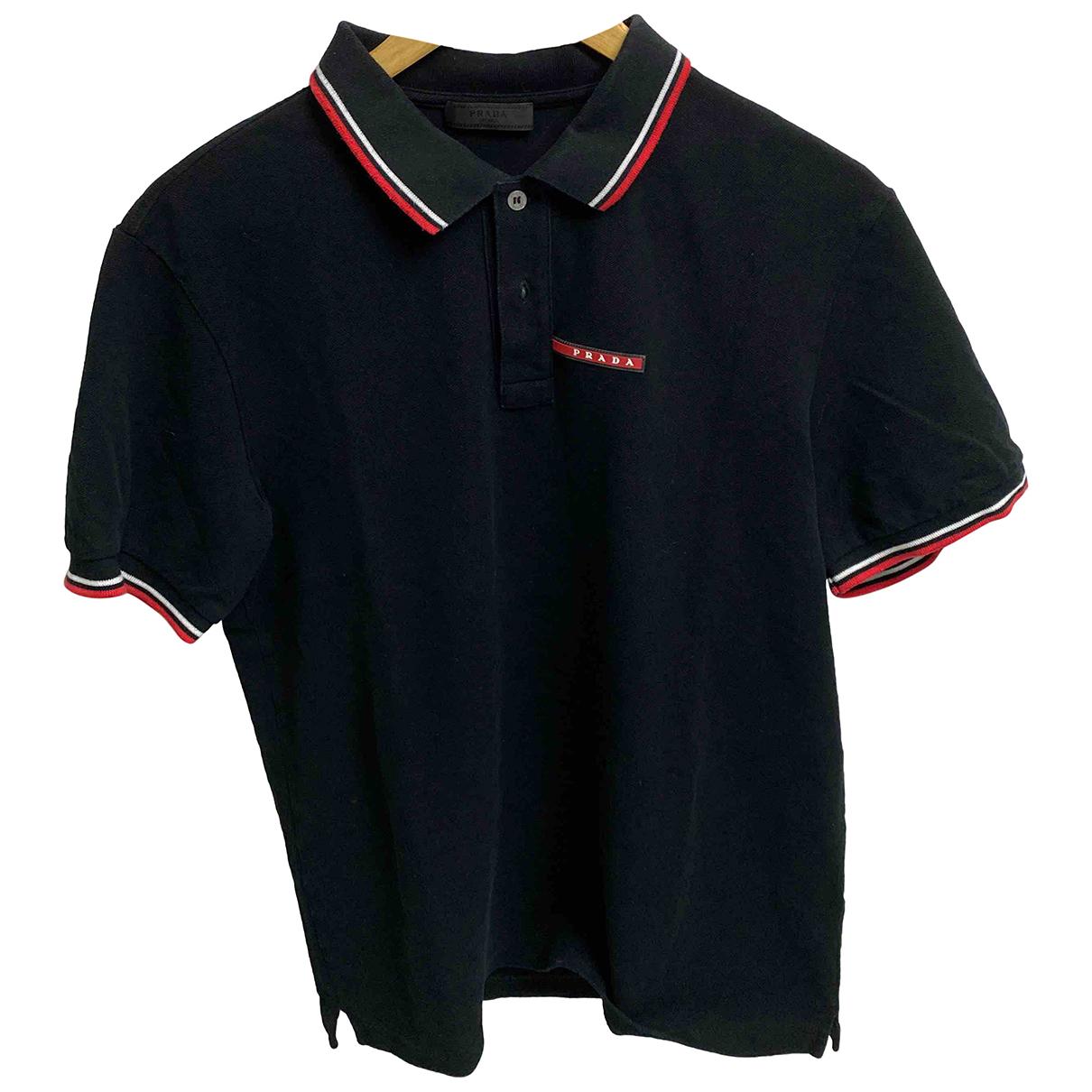 Prada - Polos   pour homme en coton - noir