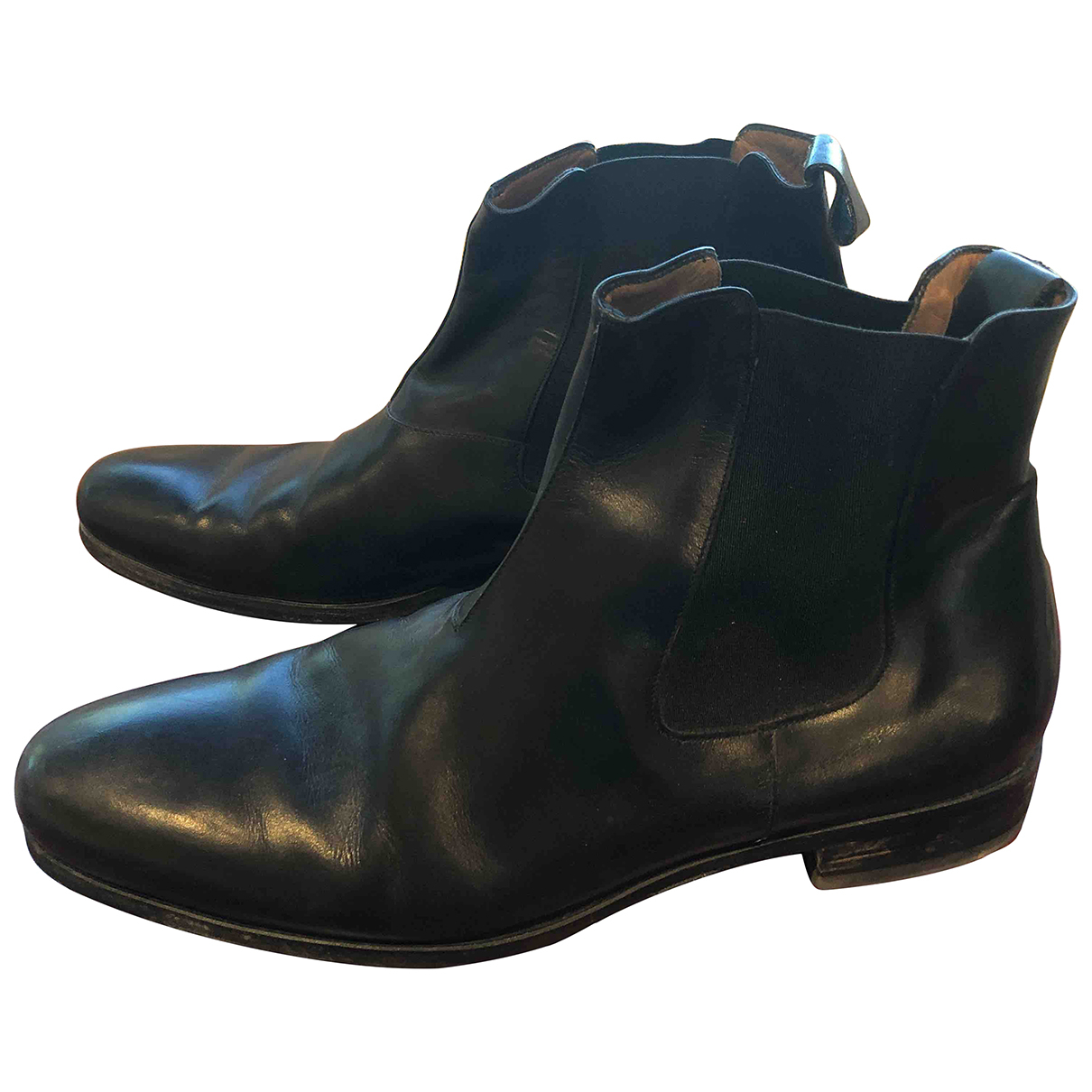 Bally N Black Leather Boots for Men 9 UK