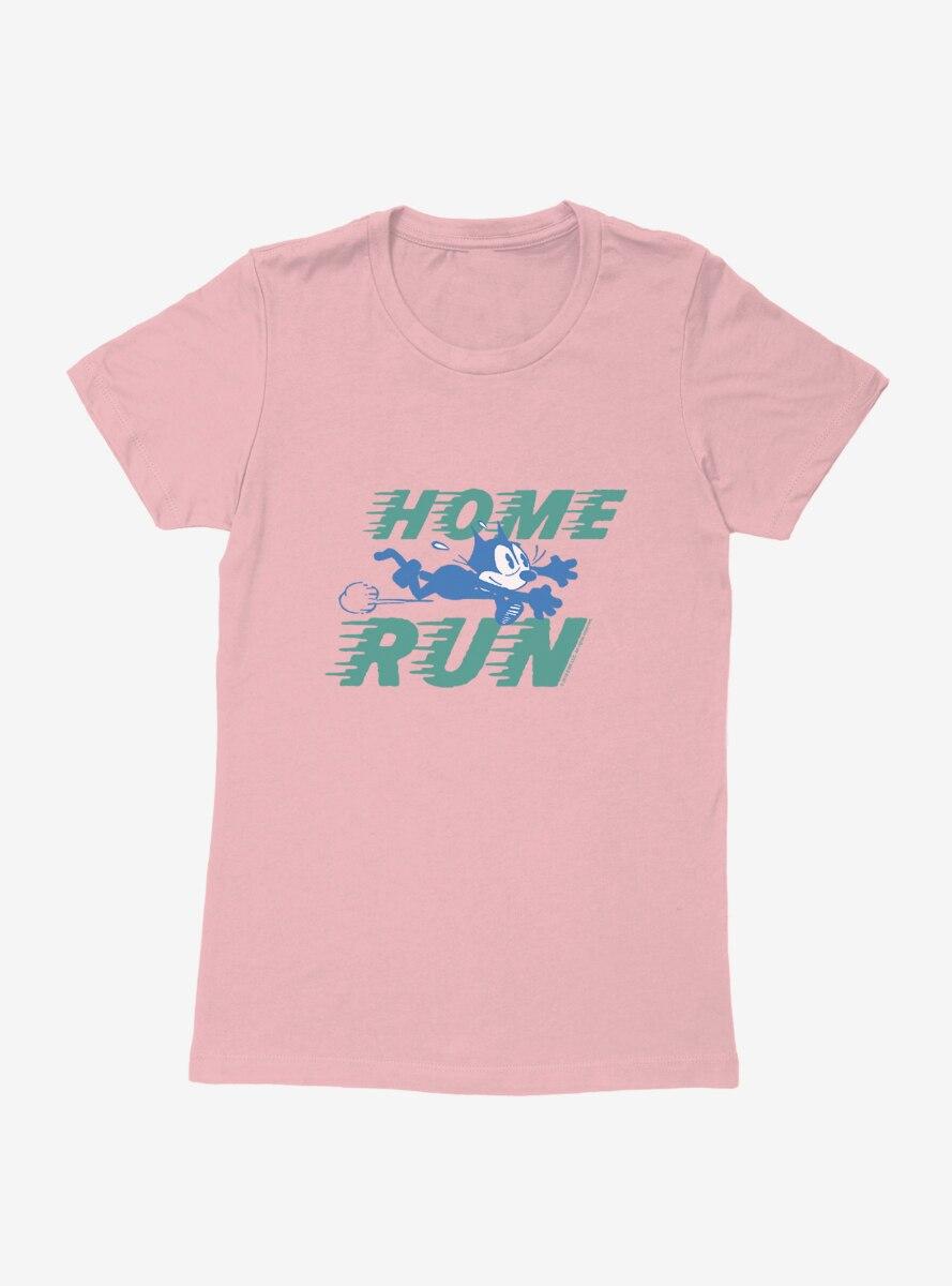 Felix The Cat Home Run Baseball Womens T-Shirt