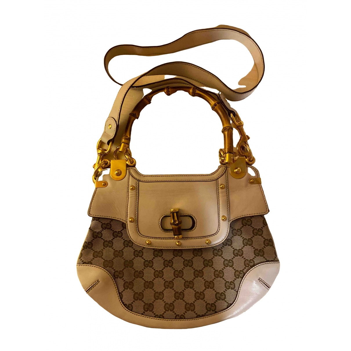 Gucci Bamboo Beige Cloth handbag for Women \N