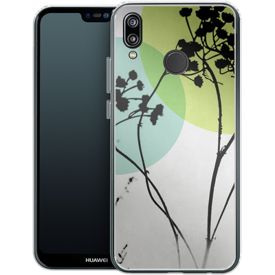 Huawei P20 Lite Silikon Handyhuelle - Abstract Flowers 2 von Mareike Bohmer