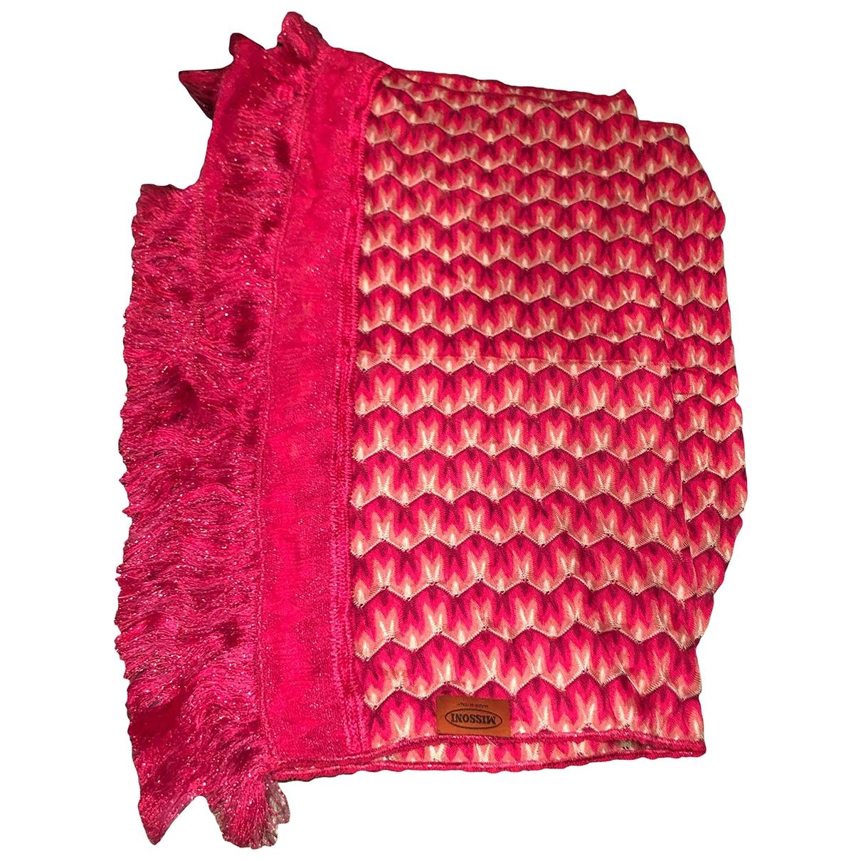 Missoni - Foulard   pour femme en soie - rose
