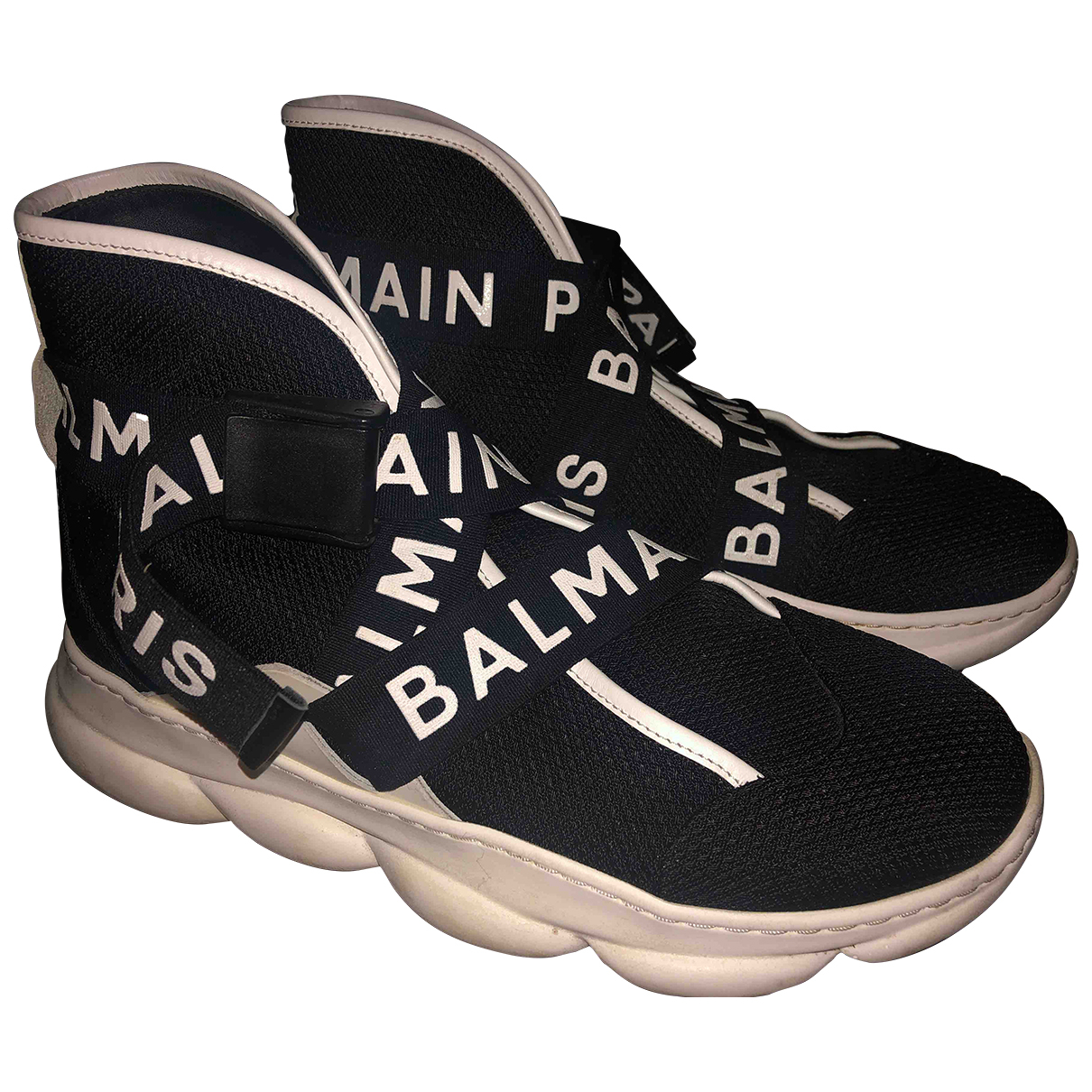 Balmain Cameron Sneakers in  Schwarz Leder