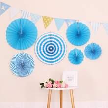 6 piezas flor de papel decorativa